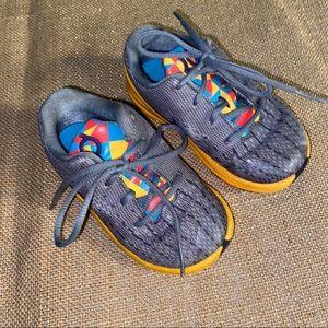 Toddler Nike Air KD sneakers in grey/orange size 7